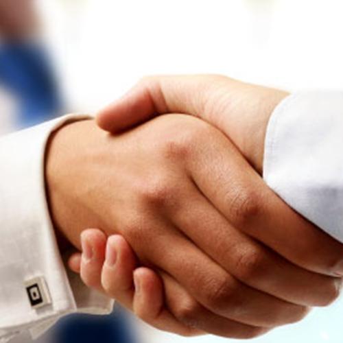 Photo of a handshake