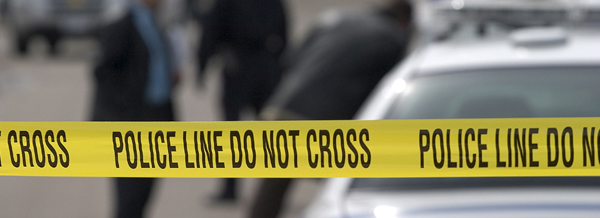 A photo of police tape