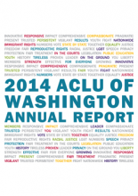 Cover of the 2014 ACLU of Washington Annual Report