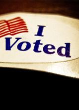 Photo of an I voted sticker