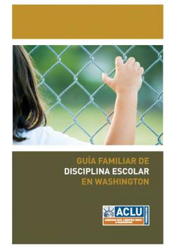 Cubierta de guia familiar de disciplina escolar